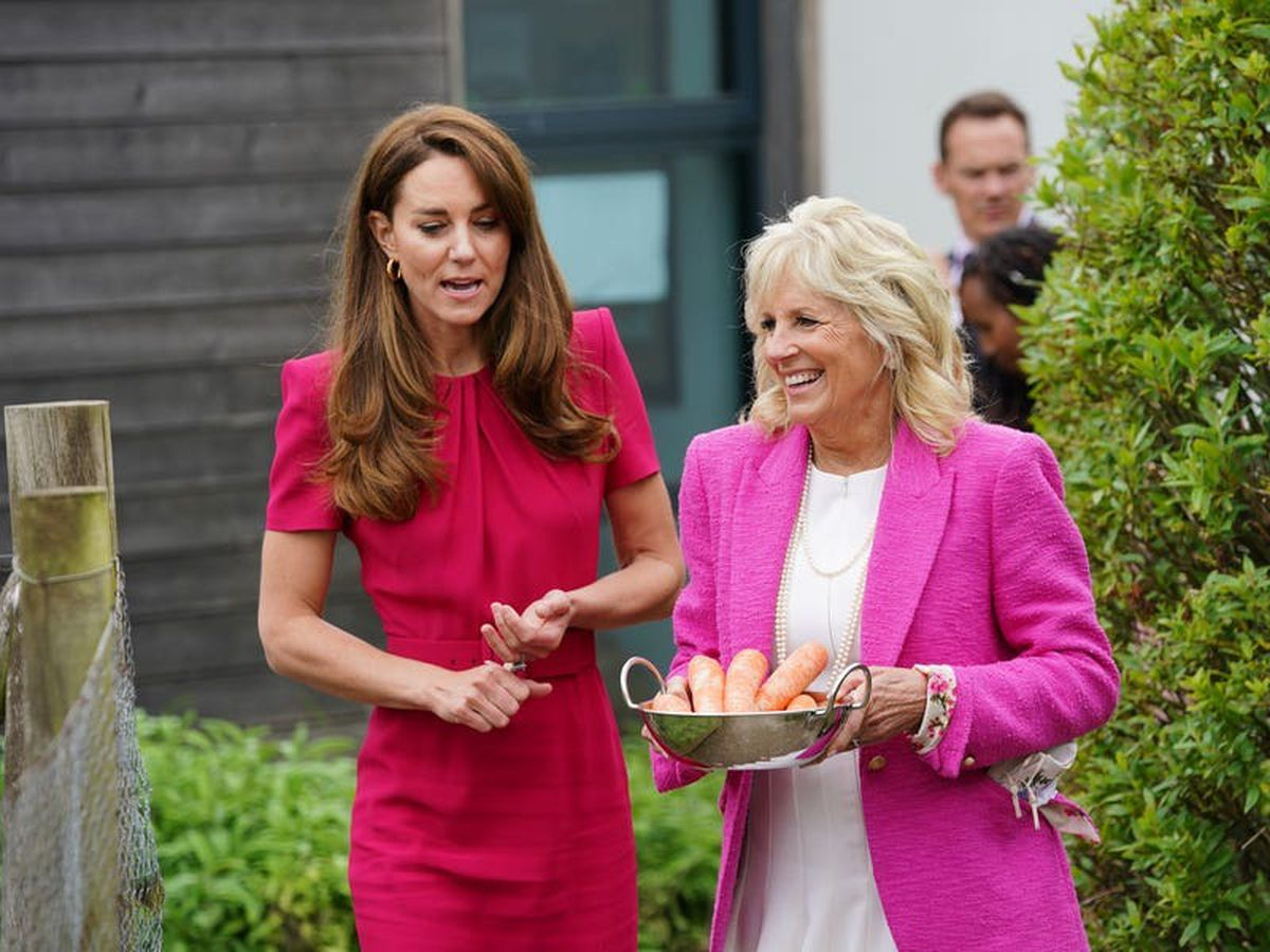 Kate and US First Lady visit school to discuss early years learning