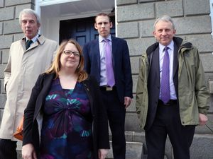 Education's group of four who persuaded the States to pursue a one-school, two-colleges transformation of secondary education. Left to right: Richard Graham, Rhian Tooley, Matt Fallaize and Mark Dorey. (25394814)