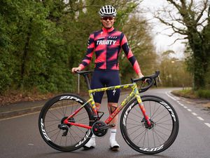 Sam Culverwell and his Trinity Racing team have revealed their new Specialized Tarmac team bike for the 2020 cycling season..Picture from Trinity Racing, 10-03-20. (29241510)
