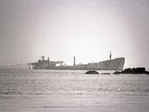 The Amoco Cadiz ran aground off Brittany on 16 March 1978. 223,000 tonnes of oil and 4,000 tonnes of ship's fuel spilled into the sea.