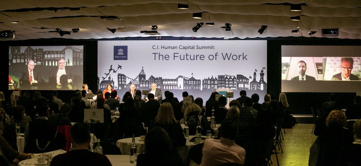 Not everyone at the CI Human Capital Summit was 'in the room' – some joined via Zoom. (Picture by Adrian Miller, 28778260)