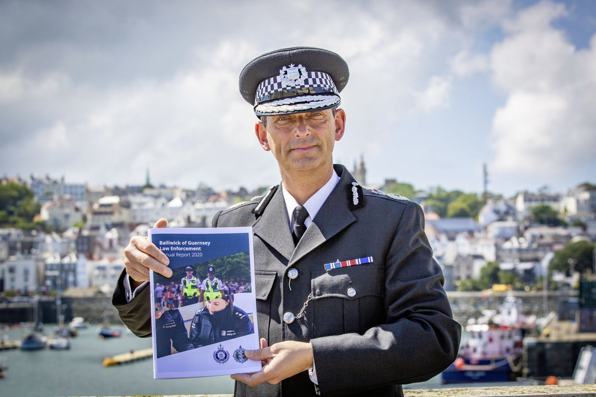 Head of Law Enforcement Ruari Hardywith the 2020 annual report. (Picture by Sophie Rabey, 29837871)