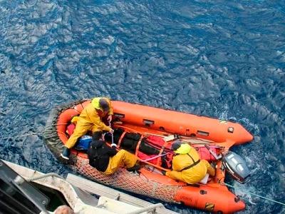 Rescued Indian and Irish sailors reach remote island