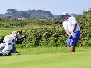 GOLF Hampshire Sevens CI Section final - Royal Guernsey Golf Club v. St Clements Golf Club at L'Ancresse, 18-08-19. Russell Torode.Picture by Gareth Le Prevost. (25540412)