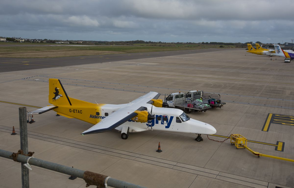 G-ETAC is one of the two more modern Dorniers which operates to Alderney for Aurigny.. (Picture by Peter Frankland, 29062265)