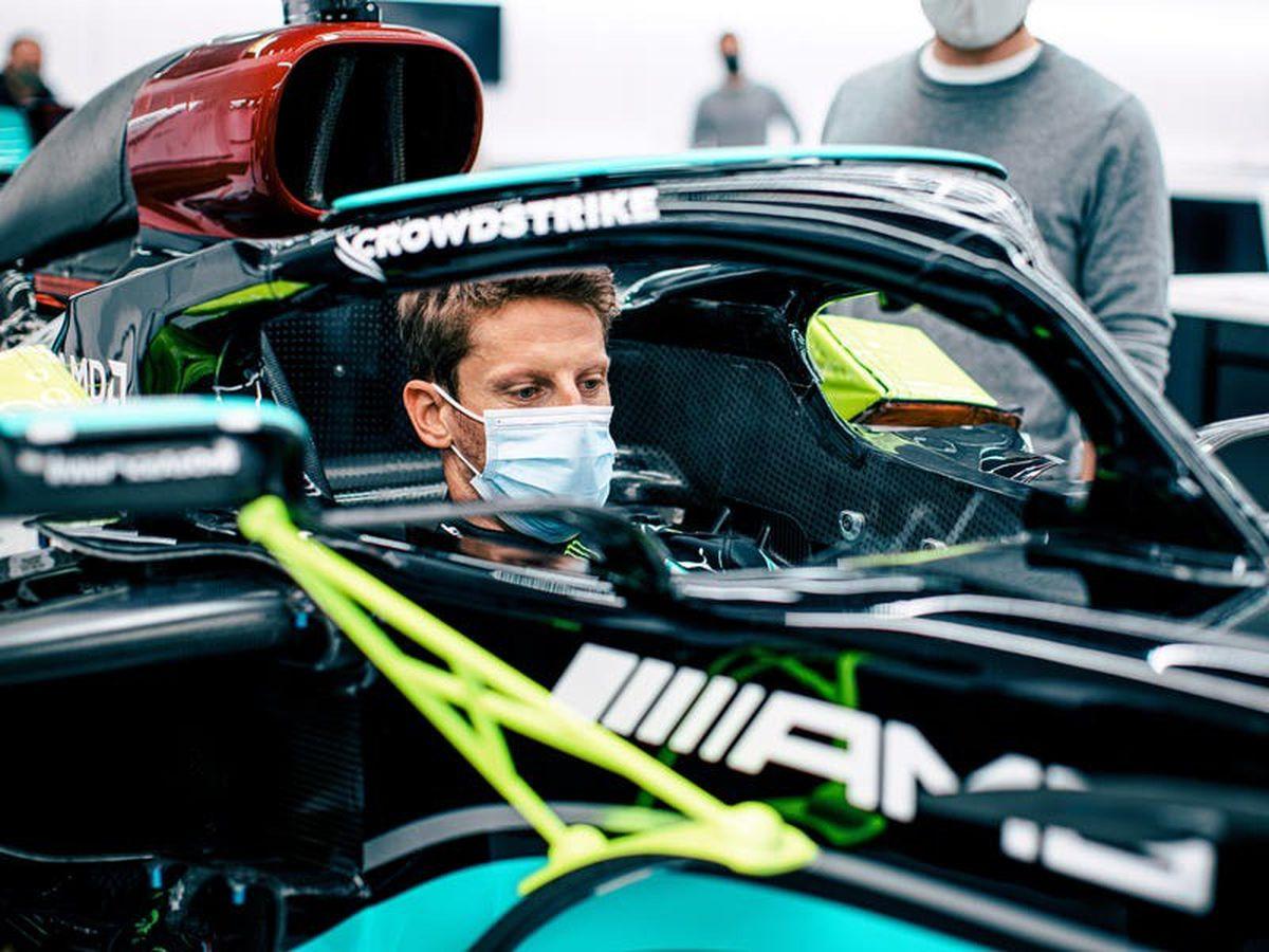 Romain Grosjean to have final F1 drive in Lewis Hamilton's title-winning car