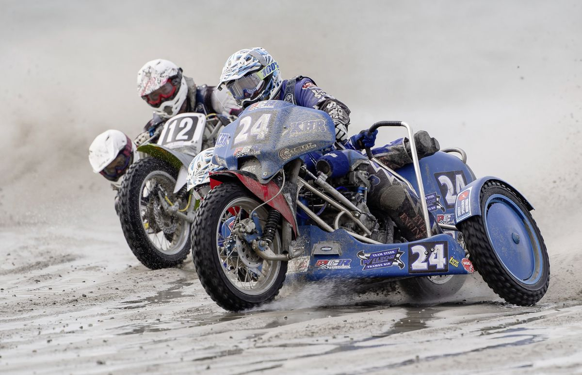The winning sidecar outfit was Rob Wilson and Terry Saunters. (Picture by Andrew Le Poidevin, 25925787)