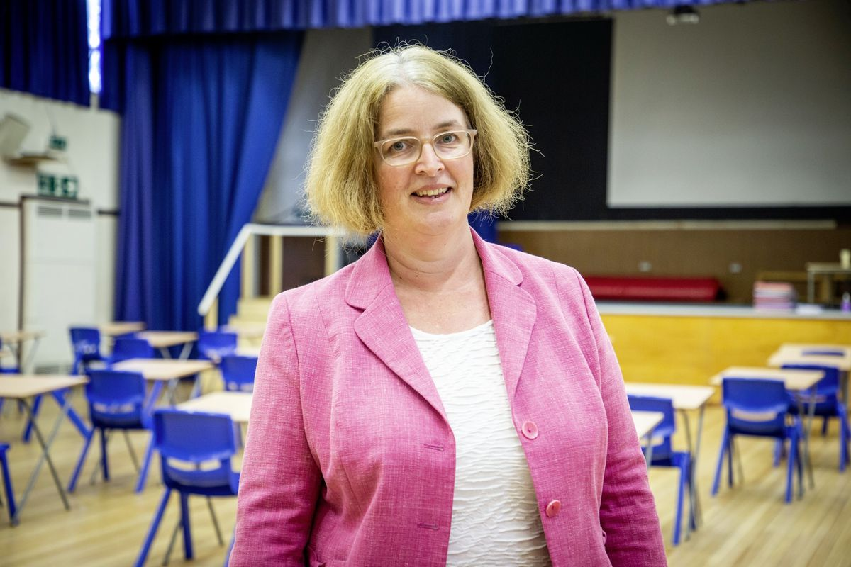 La Mare De Carteret High School headteacher Vicky Godley talks about how the school dealt with re-opening after lockdown. (Picture by Sophie Rabey, 28359390)