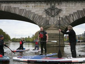 James Haskell and Matthew Wright lead paddleboard training ahead of charity trip