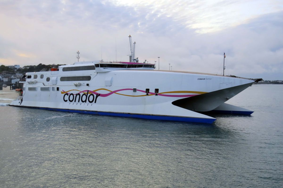 Condor Rapide's sailings this weekend have been cancelled. (Picture by Tony Rive)