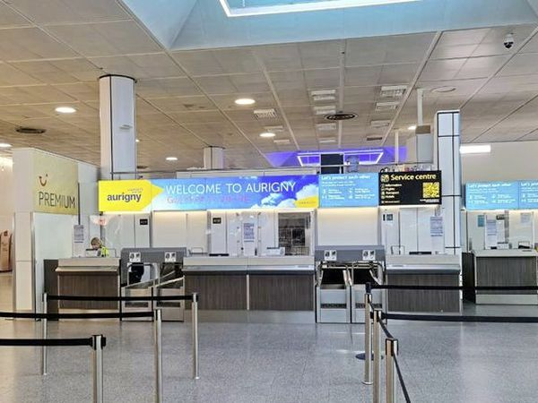 Aurigny's new check-in desk at North Terminal at Gatwick. (28821695)