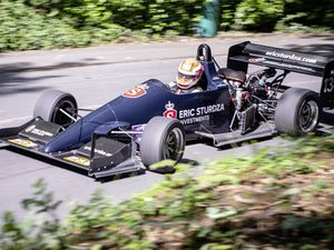 Pic supplied by Andrew Le Poidevin: 10-08-2019. Guernsey Kart & Motor Club Hillclimb at Les Val Des Terres. Nick Saunders has the handling of his Eric Studza Reynick well sorted out. (25482127)