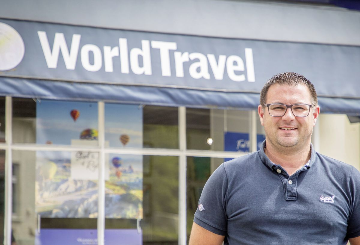 Jamie Blondel, director of World Travel.                (Picture by Sophie Rabey, 29341046)