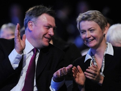 Yvette Cooper pocket-tweeted and of course husband Ed Balls led the mockery