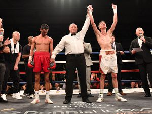 Guernsey professional boxer Brad Watson won the vacant English super-flyweight title by beating Loua Nassa in Sheffield with a 10th round stoppage.. (20606002)