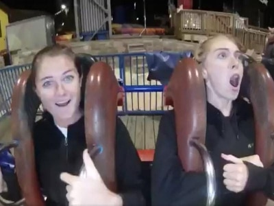 This woman might just have had the most dramatic theme park ride reaction ever