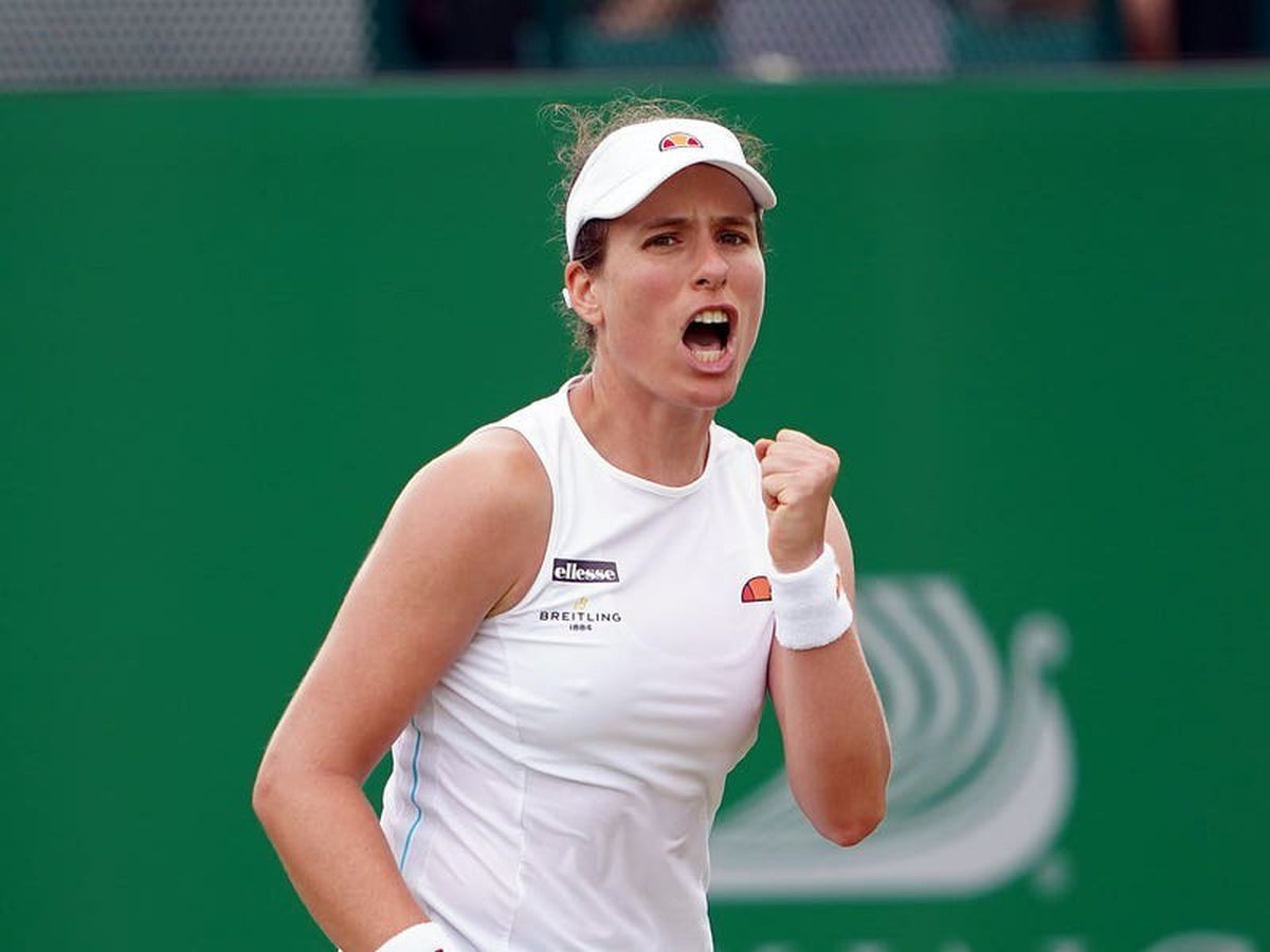Johanna Konta claims straight-sets victory to reach Viking Open semi-finals