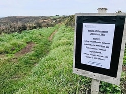 Cyclists warned not to ride on cliff paths
