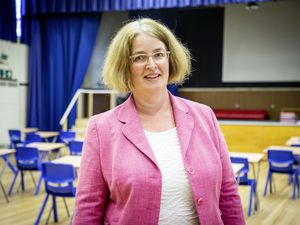 Picture by Sophie Rabey.  11-06-20.  Interview with La Mare De Carteret High School headteacher Vicky Godley regarding how its been with the reopening of Schools during Coronavirus Lockdown... (28359390)