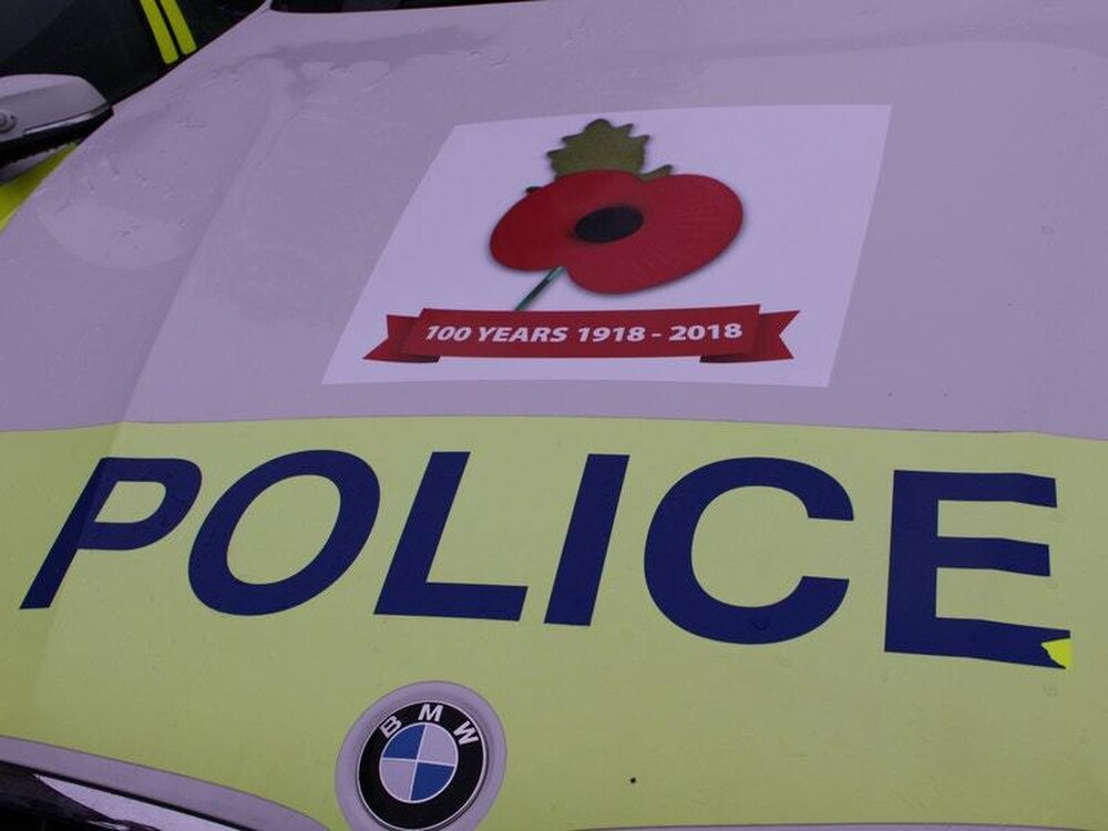 Poppy stickers on police cars to mark centenary of First