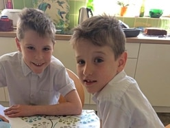 Brothers try to keep learning at home as uniform as possible