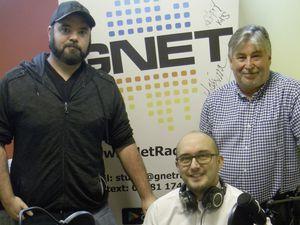 GNet Radio presenters in the studio at St James (formerly Jon Bisson's office). Left to right: Sam Dodd, treasurer, Sean Johnson, chairman, and Simon Charlwood, presenter. (26910488)