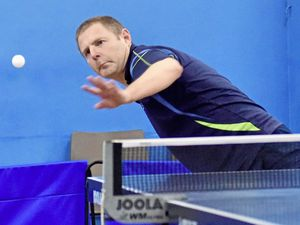 CI Open Top 12 table tennis tournament at the Guernsey Table Tennis Centre, Hougue du Pommier, 26-01-19. Phil Ogier.Picture by Mark Windsor. (23733919)