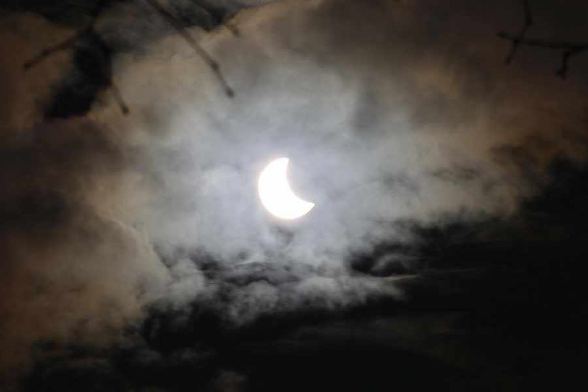 Cloudy conditions for eclipse