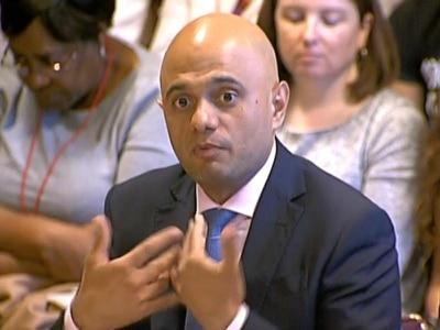 Sajid Javid 'appalled' at treatment of Windrush immigrants