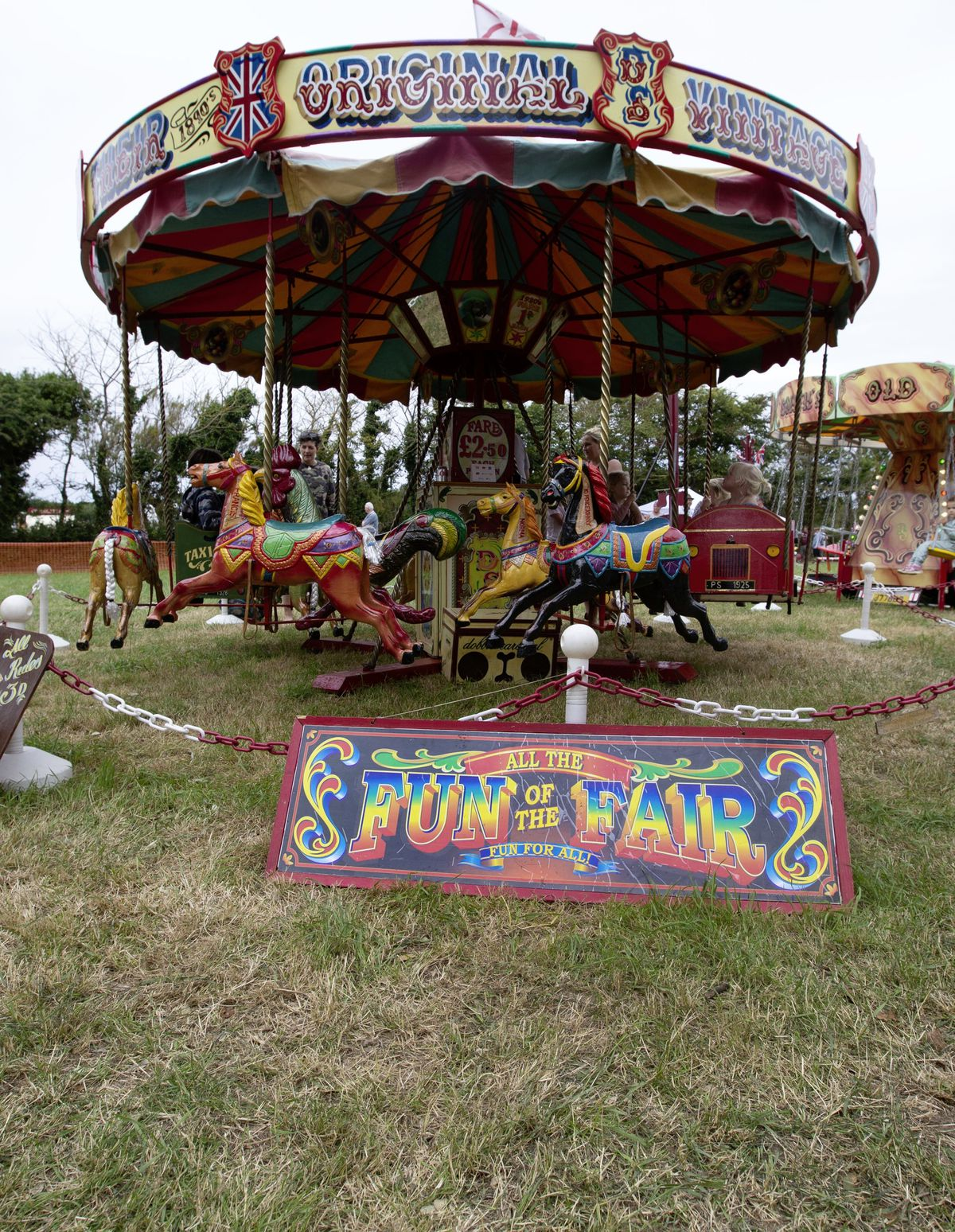 Evoking memories of days gone by, with its claim to have been established in the 1890s, was this fairground carousel. (29822290)