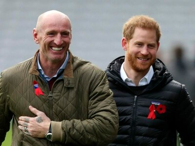 Harry offered support to Gareth Thomas and his family