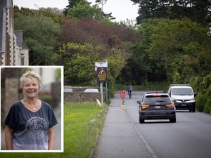 Two road humps could be installed at an accident black spot, Morley Corner. Inset is Liz Mahy who has lived in the area for many years.          (Picture by Cassidy Jones, 29630118)