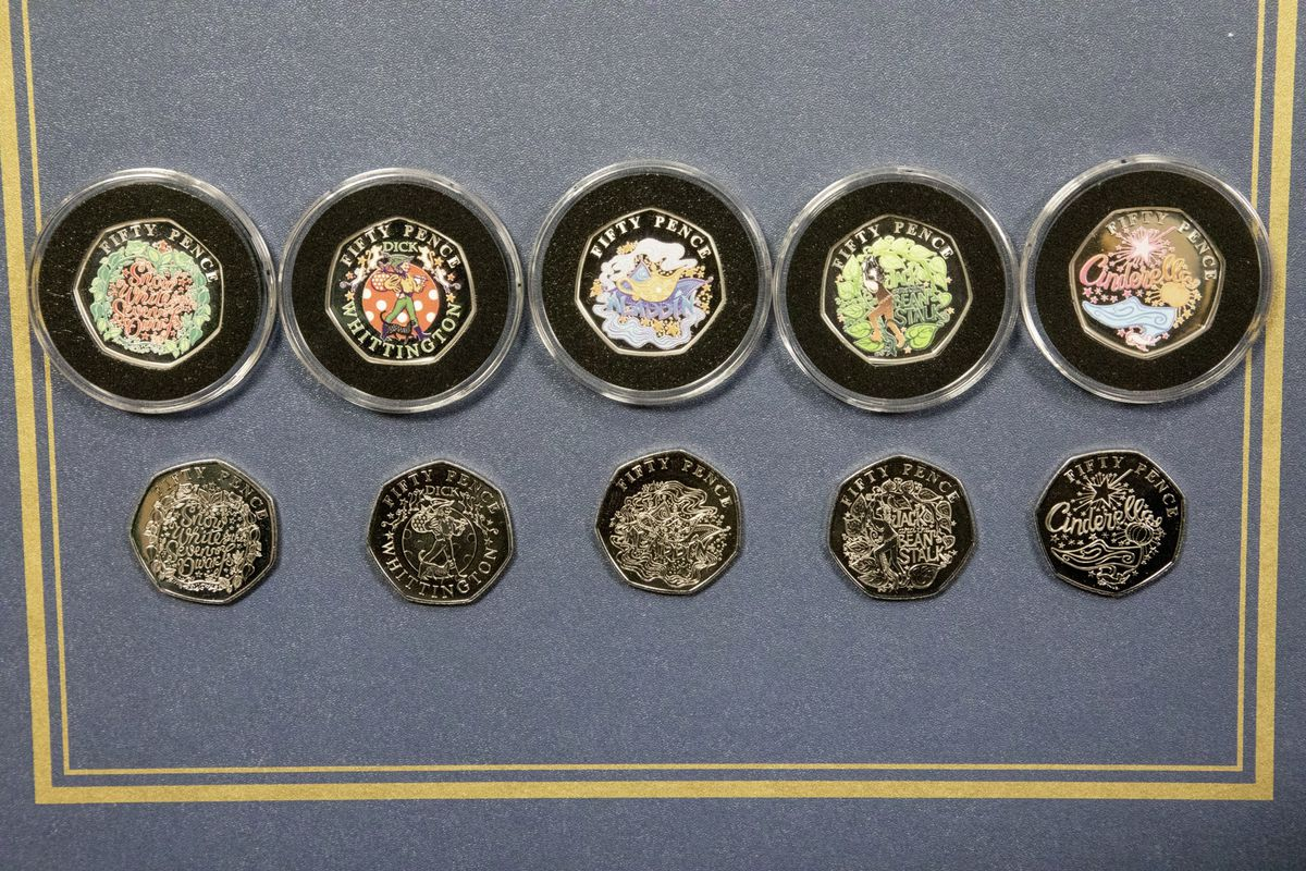 Picture by Sophie Rabey.  07-10-19.  Release of new 50p Coins, themed around pantomime.. (26002871)