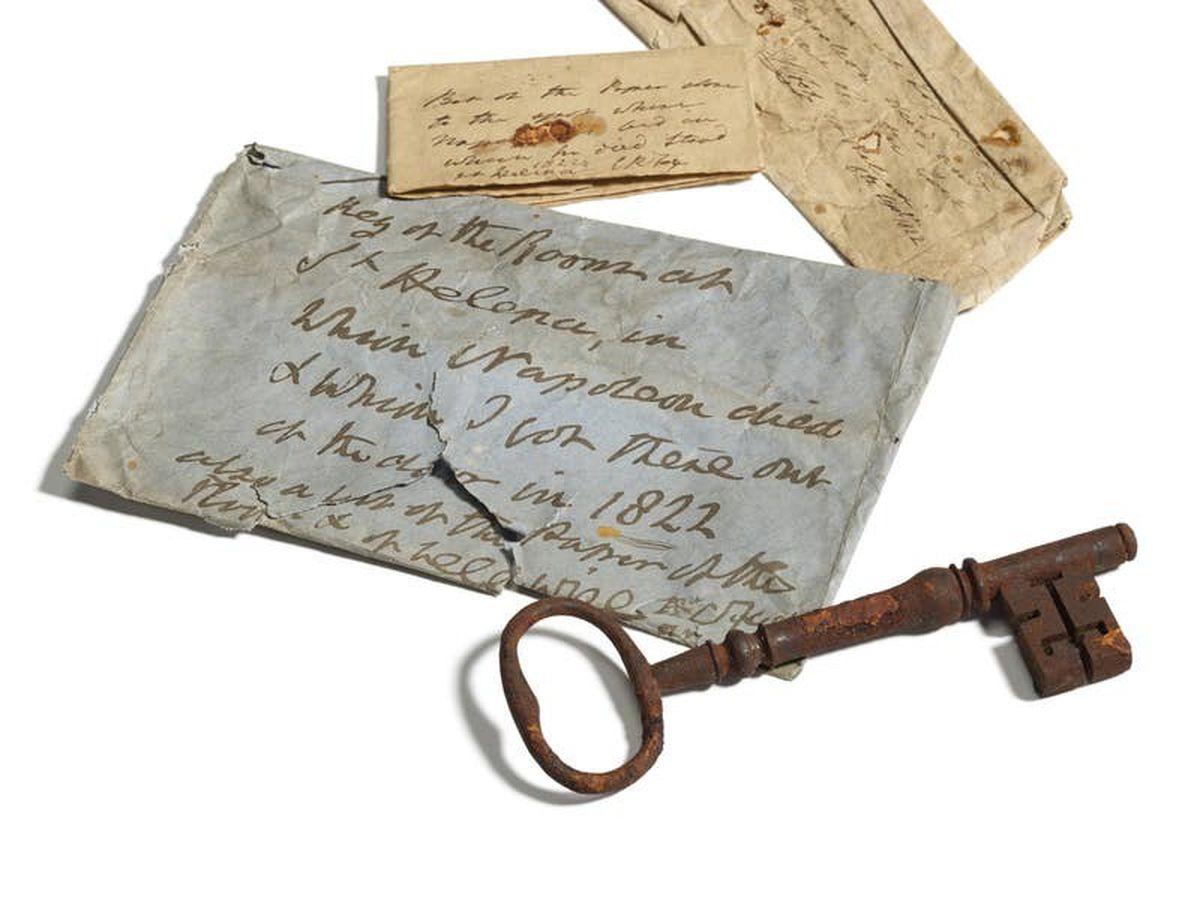 Key which unlocked Napoleon's prison bedroom door going under the hammer