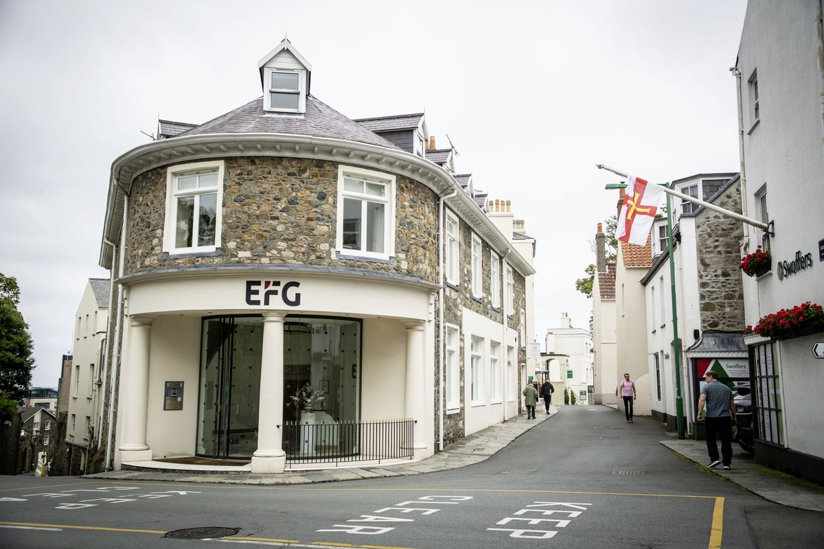EFG Private Bank (Channel Islands) Ltd local premises at the top of St Julian's Avenue in St Peter Port. (Picture by Sophie Rabey, 28466800)