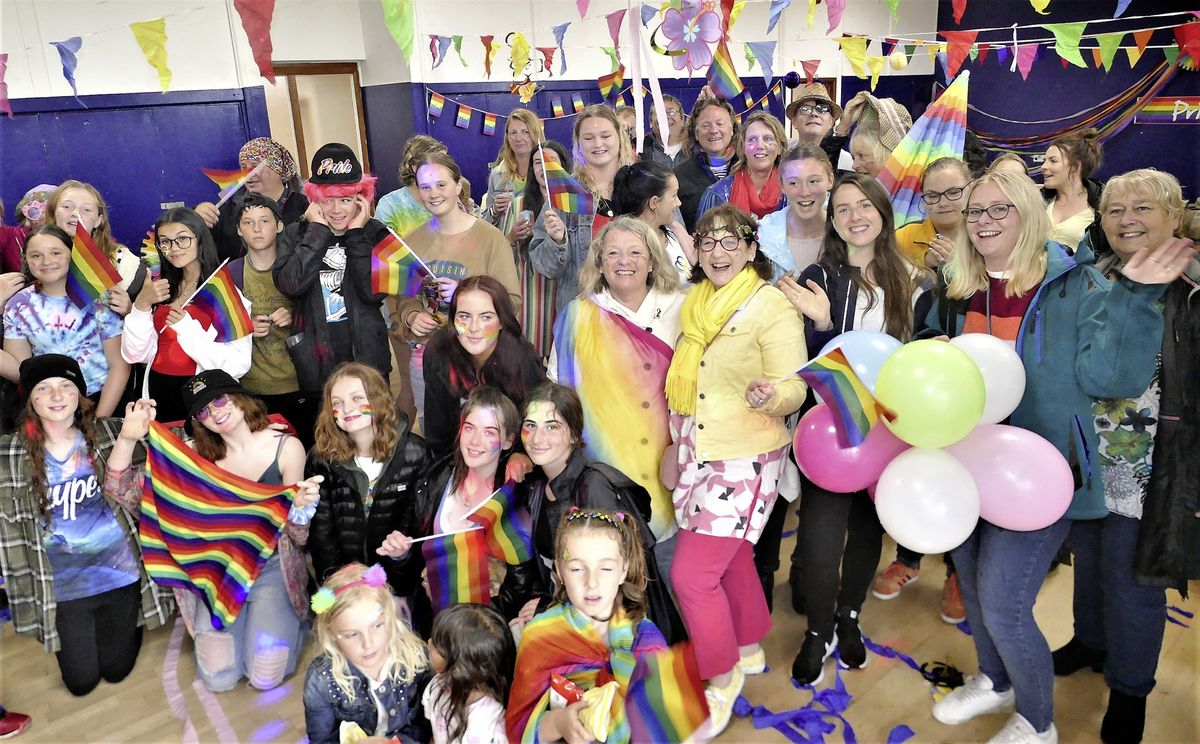 After the parade in the rain, Alderney Pride continued with a disco in the Butes Community Centre. (Picture by David Nash)