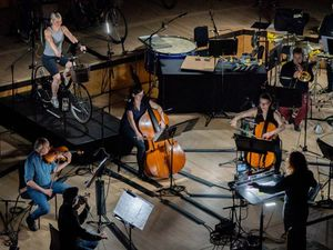London Sinfonietta orchestra stages pedal-powered performance