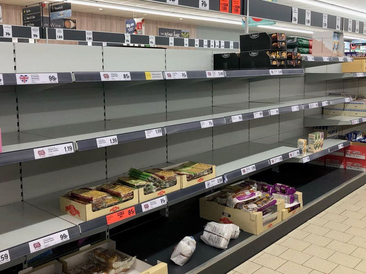 What is causing the gaps on supermarket shelves?