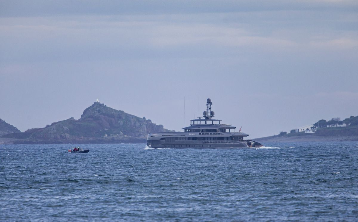 Superyacht Erica pictured heading north up The Little Russel. (Picture by Peter Frankland, 28892614)