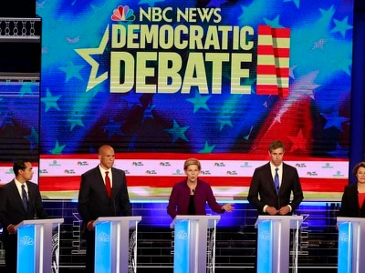 Democratic presidential debate at a glance
