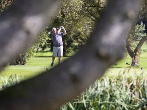 Picture By Peter Frankland. 09-09-20 Golf at La Grande Mare. Island seniors semi-finals. Nigel vaudin. (28671214)