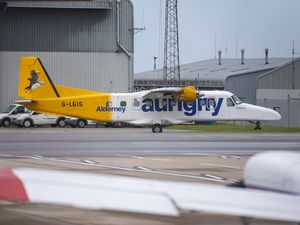 Picture By Peter Frankland. 26-09-19 Generic Dornier pic..Aurigny's Dornier aircraft are having technical problems and some passengers are not able to travel back from Guernsey, or Southampton to Alderney. G-LGIS.Aurigny. (29159826)
