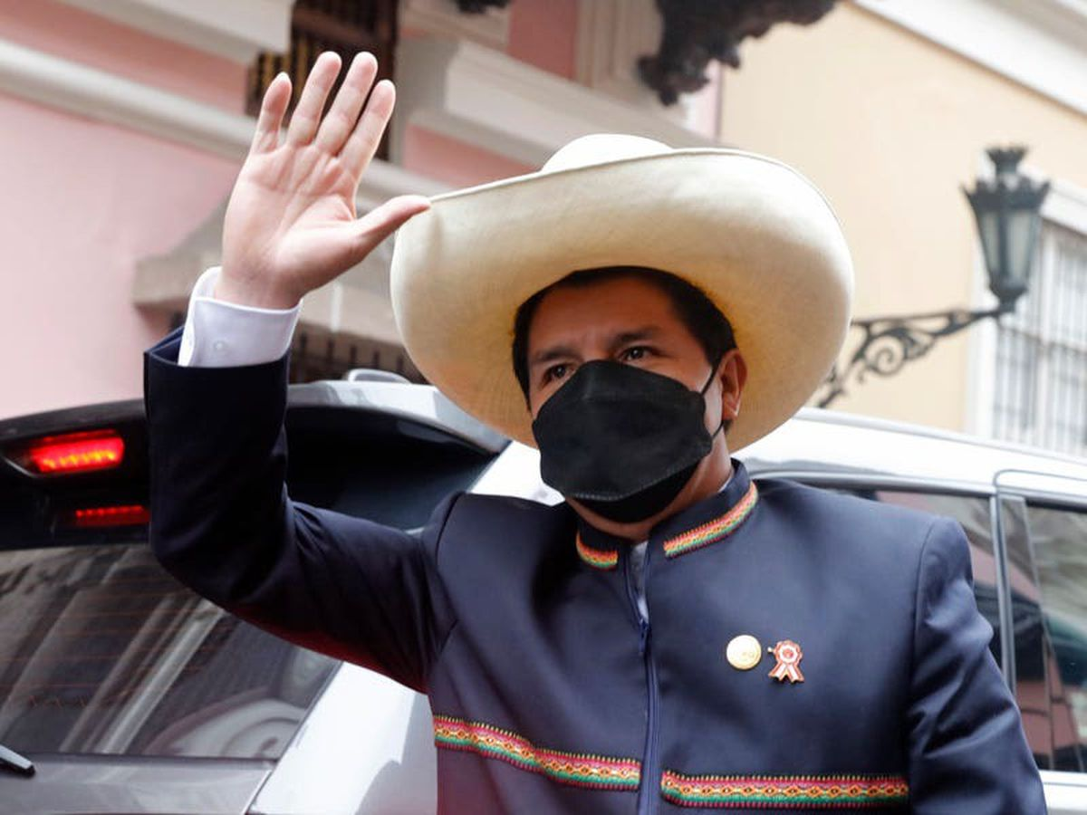 Left-wing political novice sworn in as Peru's president