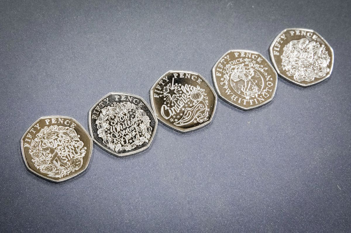 Picture by Sophie Rabey.  07-10-19.  Release of new 50p Coins, themed around pantomime.. (26002866)