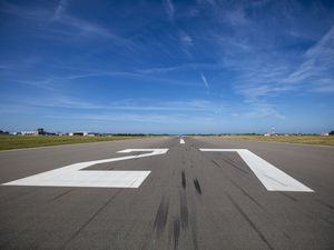 Picture By Peter Frankland. 23-08-19 Generic runway pictures at Guernsey Airport..Generic.Runway.Airport.Aurigny.Private jet.single engine.Airport terminal.terminal. (28294497)