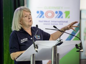 Guernsey 2021 chairman Dame Mary Perkins called on the people of Guernsey to become 'Inspiring Islanders' as an appeal was launched for 21,000 Games makers for next summer's NatWest International Island Games. (Picture by Andrew Le Poidevin)