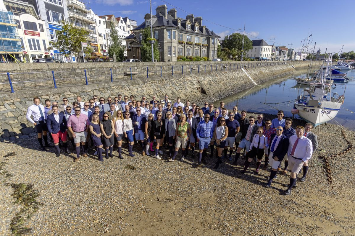 Perfect weather for the start of Bermuda Shorts Week, sponsored by Butterfield Bank – which has its head office in Bermuda. The aim is to raise money for cancer awareness charity Male Uprising Guernsey. (Picture by Chris George Photography)