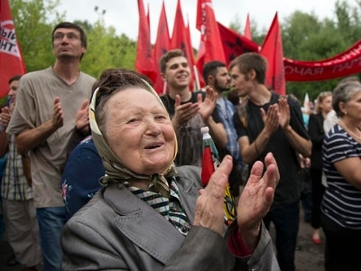 Russians protest over moves to raise retirement age
