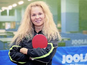 Guernsey's new table tennis development officer Otilia Badescu. (Picture by Adrian Miller, 19360352)