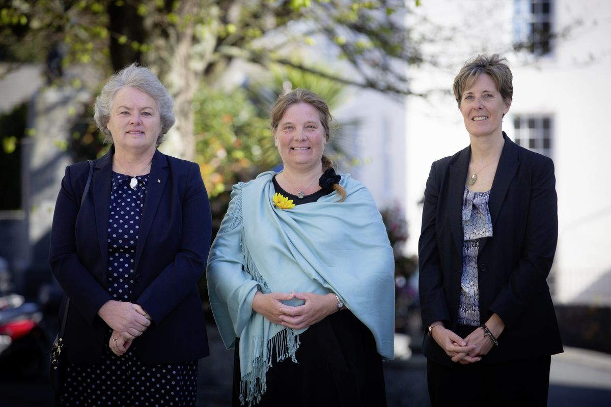 The three wedding celebrants from Alderney who were sworn in at the Royal Court, left to right, Annabel Finding, Helen Martin and Lisa Sanders. (Picture by Peter Frankland, 29455380)